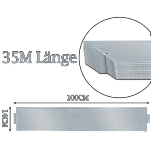 14cm Hoch Rasenkante Mähkante Metall 5-50m Verzinkt Beeteinfassung