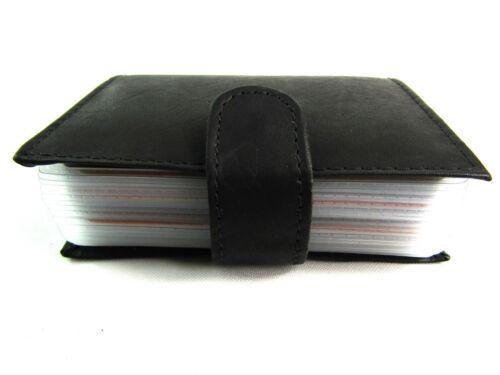 Unisex Hochwertig Echt Schwarz Leder Kreditkarte Karten Etui Rfid Sperrung