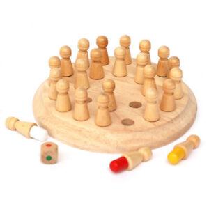 Coincidencia-de-memoria-Redondo-de-Madera-Palo-juego-de-ajedrez-Juguete-Ninos-los-primeros-bloques
