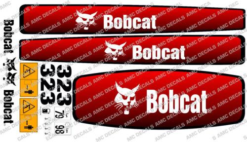 Bobcat 323 Mini Bagger Aufkleber Satz