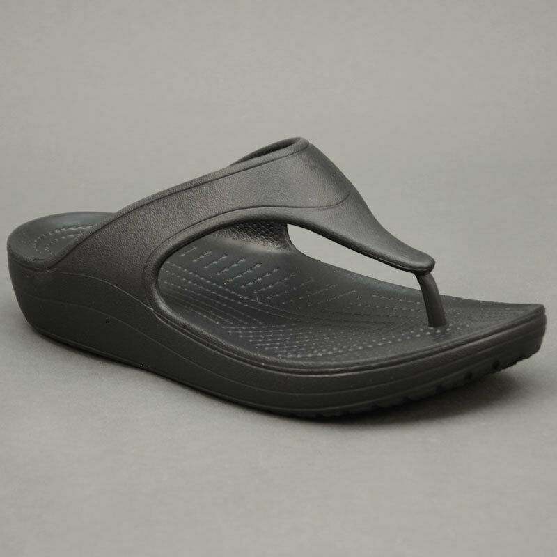 Crocs FLIP-FLOPS SLOANE FLIP WEDGE Black black mod. 200486