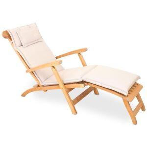 vivagardea kissen auflage liege deckchair creme beige perleffekt wasserabweisend ebay. Black Bedroom Furniture Sets. Home Design Ideas