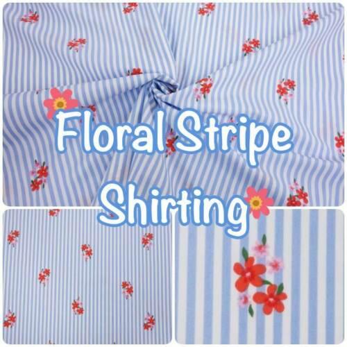 Raya floral 50/% algodón 50/% Poliéster Confección Tela género para camisería