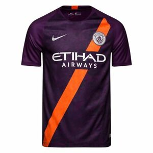 buy online a908f 44cc4 Details about Manchester City 18/19 David Silva Third Purple Soccer Jersey