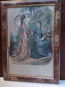 Grabado Reproducción El Moda Illustrated Baño Sombrero Moda Francesa 19 Siglo