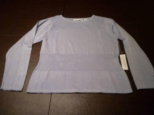 Lt Ballinger Nwt Gold Ribbed L Sweater Cotton Purple EqESpnwZ