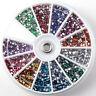 Nail Art 3000pcs 2mm Rhinestones Glitter Decoration 3D Tips Diamond Gem Wheel US