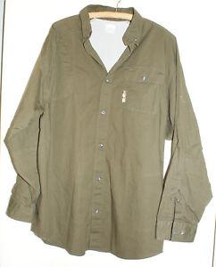 Columbia-PHG-Omni-Shade-Hunting-Fishing-Shirt-Mens-Size-Large-Long-Sleeves-Brown