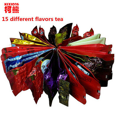15 Different flavors Tea Chinese OolongPuErBlackGreenMilk OolongGinseng....