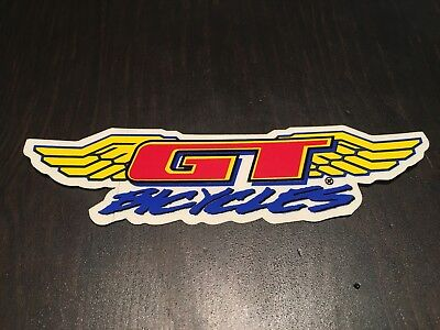 NOS VINTAGE GT WINGS GT BICYCLES BMX STICKER DECAL