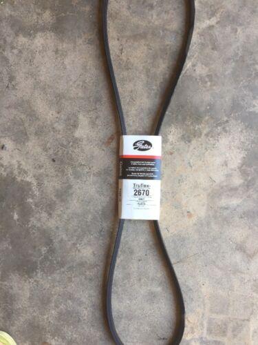 "Gates Truflex V Belt Made In USA Wheel Horse 67/"" X 1//2/"" 2670"