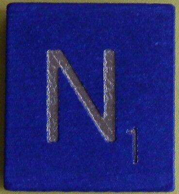 Scrabble Tiles Replacement Letter X Blue Wooden Craft Game Part Piece 50th Ann.