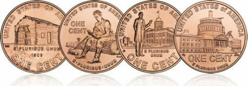 LP-1,LP-2,LP-3,LP-4 8 coins BU 2009 P-D Lincoln Cents Complete Bicentennials