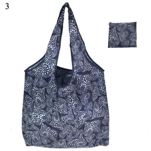 Eco Shopping Waterproof Shoulder Bag Tote Handbag Folding Reusable Bag