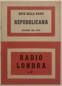RSI-RADIO-LONDRA-E-Ci-libro-Repubblica-Sociale-Italiana-dicembre-1944-XXIII