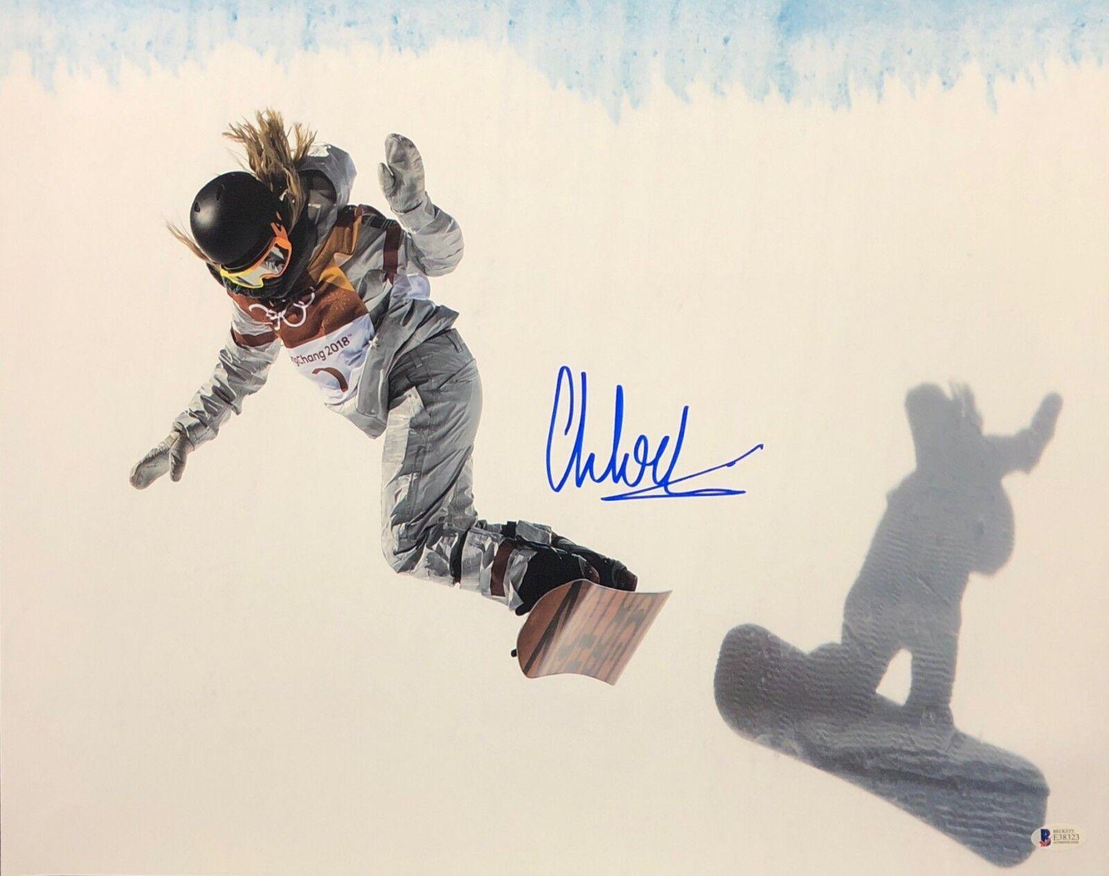 Chloe Kim Signed USA Olympics Snowboarding 16x20 Photo *Gold Medalist BAS E38323