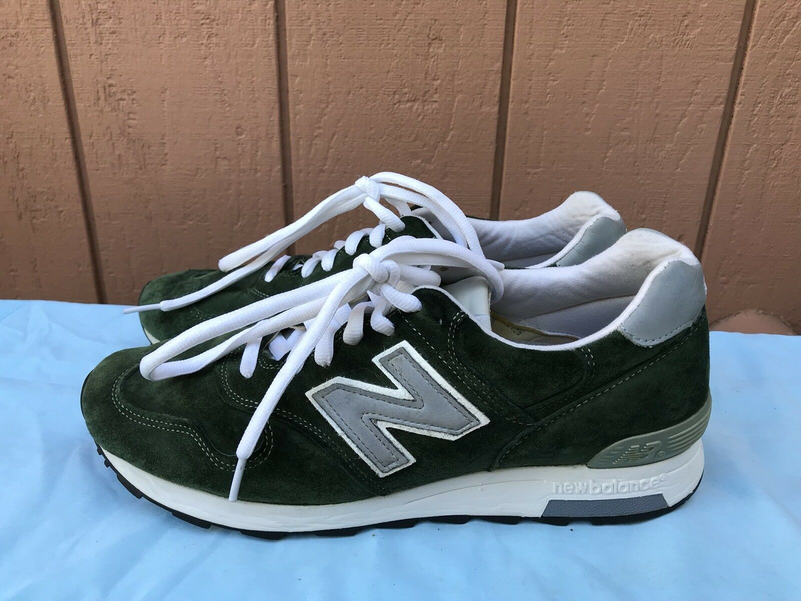 RARE EUC New Balance 1400 Men US 10D Made In USA Sneaker M1400MG Forest Green A6