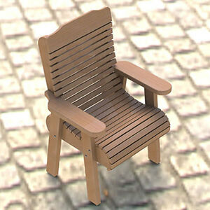 Wooden Lawn Chair Building Plans 001 Easy to Build Paper Plans