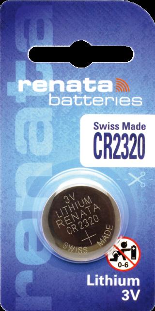 1 x Renata CR2320 Batteries, 3V Lithium, 2320 3 Volts