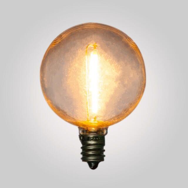 Led Filament G40 Globe Shatterproof Light Bulb Dimmable 1w E12 Candelabra Base For Sale Online
