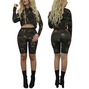 d5c9e28d8fd Image is loading Sexy-Women-Hooded-Long-Sleeve-Camouflage-Print-Bodycon-