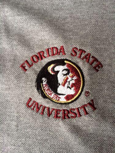 Grey Mens Large NEW Florida State Seminoles Mens Pique Xtra-Lite Polo