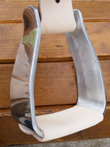 Slanted Crooked Angled Aluminum Ranch Roping Saddle Stirrups