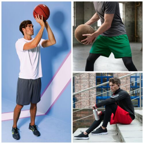 Mens Sports Football Shorts Gym Running Fitness Sport Summer Cool Casual Active