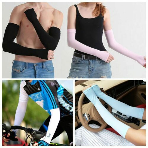 Summer Sunscreen Ice Silk Sleeves Uv Protection Outdoor Cycling Sports Sleeves