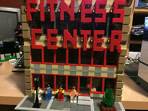 LEGO-Custom-Fitness-Center-Modular-Building-Instructions-ONLY