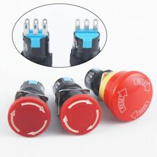 E Stop Switch 30mm Mushroom Emergency Stop 36 Pins Latching Self Weather 16mm