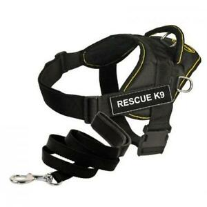 Dean-amp-Tyler-Bundle-One-DT-Fun-Works-Harness-Rescue-K9-Yellow-Trim-XXSMALL-B10