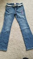 Girls Canyon River Blues Boot Cut Belted Jeans 8 12