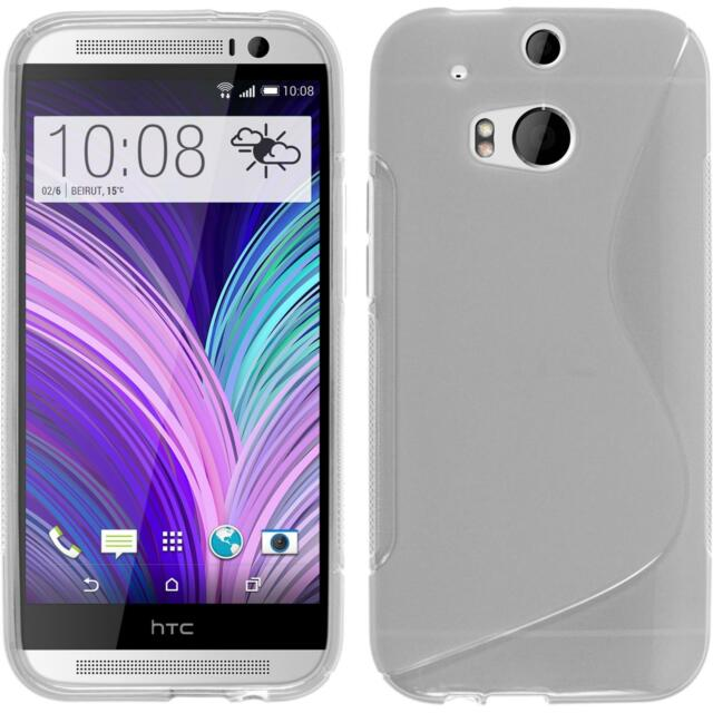Silicone Case for HTC One M8 S-Style transparent Cover