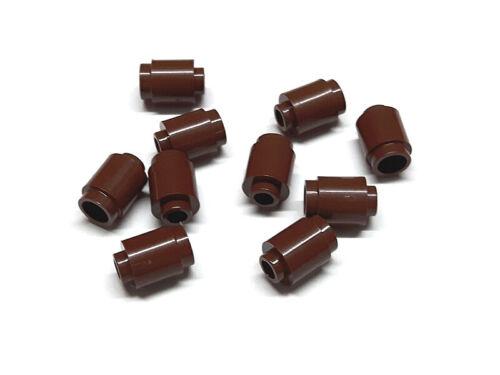 4211183 Lego Rundstein 1 x 1 offene Noppe Rotbraun 10 Stück