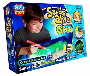 Sands-Alive-Create-amp-Glow-Modelling-Set-Age-3-Brand-New-With-Glow-In-Dark-Light