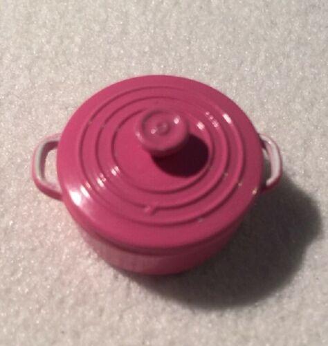 Casa de muñecas en miniatura 1//12th escala Cazuela Olla Varios Colores Disponibles