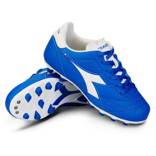 Diadora Brasil R MDPU Jr FG Royal Blue White Kids Youth Soccer Cleats Boys Girls