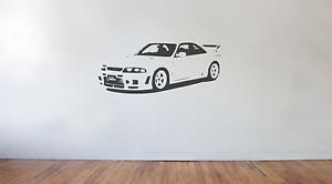 Japan Import Drift Race large Nissan Skyline R32 GTR wall art decal sticker