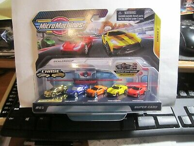 Micro Machines #01 Super Cars Dealership Ultra Rare Gold Chase