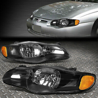 FOR 00-05 CHEVY IMPALA BLACK HOUSING AMBER CORNER HEADLIGHT REPLACEMENT LAMPS