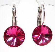 SoHo® Ohrringe Ohrhänger geschliffene Kristalle rivoli fuchsia pink Strassteine