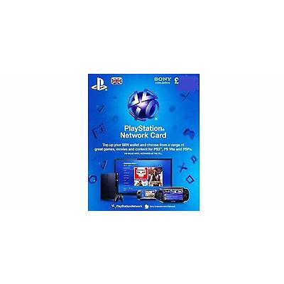 PSN UK Playstation Network Card Key £15 - PS3 - PS4 & PS Vita SAME DAY DISPATCH