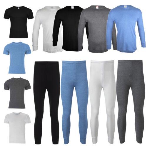 Mens Thermal Long Johns Short Sleeve T-Shirts Winter Warm Thermal Underwear Set