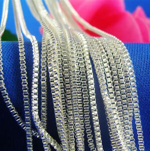 Wholesale-10pcs-1-4mm-925-Sterling-Silver-Plated-Box-Chain-Necklace-16-034-30-034-Pick