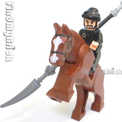 NEW Lego Three Kingdoms Custom Zhang Fei Minifigure /& Horse 三国の张飞 丈八蛇矛 と 閉月烏 NEW