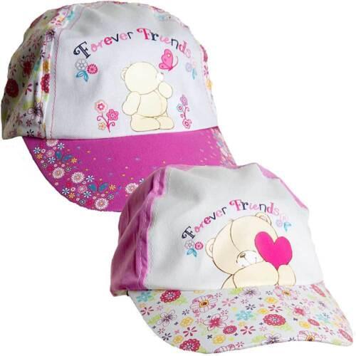 Girls forever friends ours nouveauté summer sun hat peak cap rose 2-6 ans