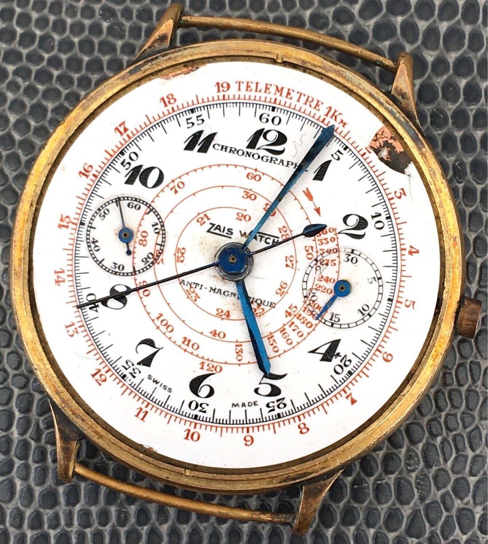 Zais Watch Chronographe Monopusher NO Funciona 35,5 mm Watch Vintage Reloj