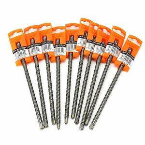 10-SPIT-RAMSET-R3-SDS-PLUS-DRILL-BITS-9MM-x-210MM-FOR-BRICK-MASONRY-amp-CONCRETE