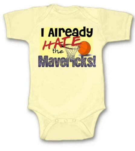 Details about  /Already Hate Mavericks Basketball Baby Bodysuit Choose Size Color Adorable Gift
